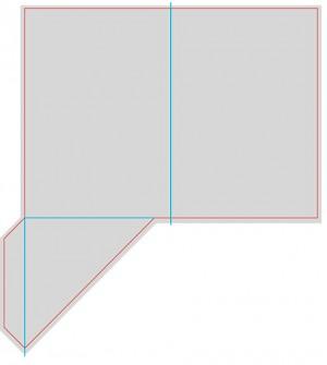 Контур штампа конверта Konv06