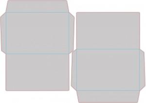 Контур штампа конверта Konv08