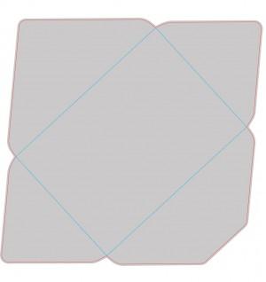 Контур штампа конверта Konv09