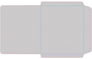 Контур штампа конверта Konv11