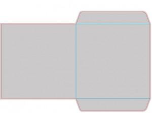 Контур штампа конверта Konv12