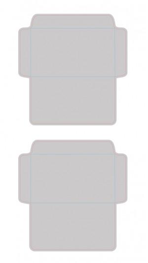 Контур штампа конверта Konv14