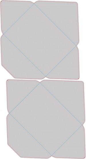 Контур штампа конверта Konv15