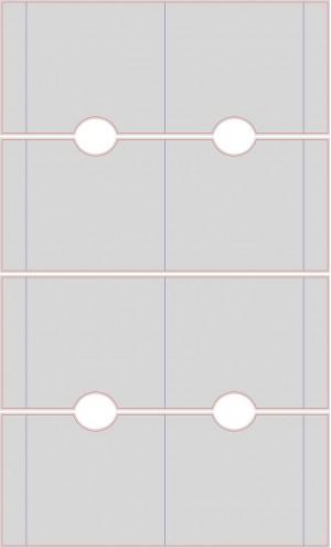 Контур штампа конверта Konv18