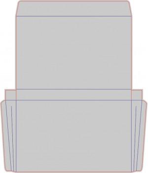 Контур штампа конверта Konv25