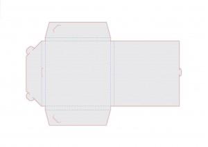 Контур штампа конверта Konv33
