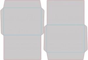 Контур штампа конверта Konv37