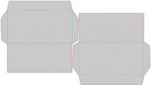 Контур штампа конверта Konv45