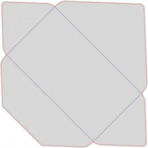 Контур штампа конверта Konv47