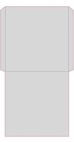 Контур штампа конверта Konv49