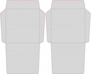 Контур штампа конверта Konv50