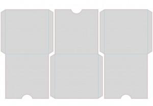 Контур штампа конверта Konv01
